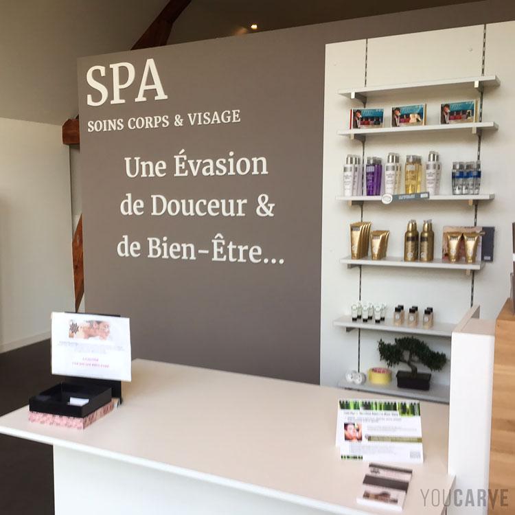 D coupe de mat riaux sur internet - Salon de massage avec finition ...